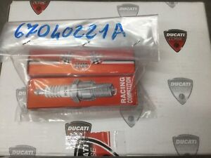 Ducati Racing Spark Plugs R0045Q-10 67040221A 749RS 999RS 1098RS 1198RS 1199RS