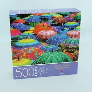 New 500 Piece Jigsaw Puzzle Colorful Umbrellas Cardinal