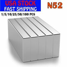 Lot 1 100x Super Strong Block Fridge Magnets Rare Earth N52 Neodymium 25x10x3mm