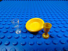 LEGO-MINIFIGURES CITY X 1 PLATE X 2 GOBLETS FOR MINIFIGURES ACCESSORYS LOOK PART