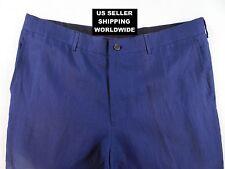 $980.00 Luxury Linen Ralph Lauren Purple Label Blue 34 Dress Pants Make An Offer