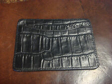 Bill Lavin Black Leather Card Holder Made in California