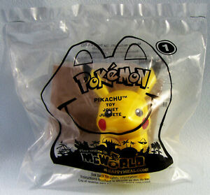 2011 Pokemon Black and White Pikachu with Card McDonalds Happy Meal, NEW SEALED