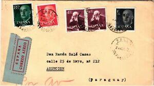 GP GOLDPATH: SPAIN COVER 1954 AIR MAIL _CV673_P26