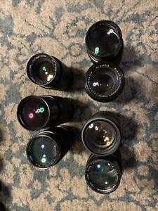 🇺🇸[US SELLER] Lot Of Vintage Telephoto Zoom Lenses Nikon F Canon FD PK AS IS