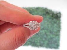 2.50 Carat Face Illusion Diamond Engagement Ring 14K White Gold ER406 sep