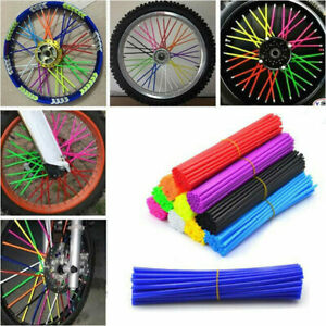 72Pcs Wheel Spoke Wrap Sleeves Mountain Bike Bicycle MTB Wraps Skins Covers AU