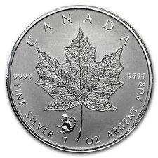 2016 Canada 1 oz Silver Maple Leaf Lunar Monkey Privy BU - SKU#95019