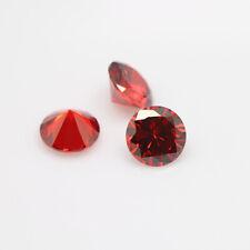 Light Garnet - Cubic Zirconia Round Brilliant Cut Loose Stones