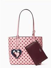 🌸NWT Kate Spade Love Birds small Reversible Tote Arch pouch handbag crossbody