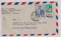 Bizone/Bauten, Mi. 92wg MiF 105a, Lp-Bremen - USA, 9.5.49, U links angeschnitten