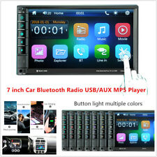 "7"" Touch Screen Car MP3 MP5 Player TV FM Bluetooth Stereo Radio USB AUX Rearview"