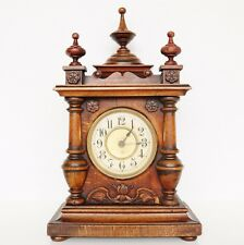 MANTEL ALARM CLOCK JUNGHANS 1910s TOP Condition!! Castle Shaped! Antique Germany