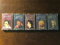 CLASSIC MUSIC COLLECTION: Bach, Grieg, Handel, Schubert, Vivaldi (5 Tapes - NEW)