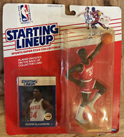 1988 Starting Lineup Kenner Basketball Akeem Olajuwon Houston Rockets sealed