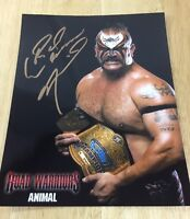 Road Warrior Animal Signed 8x10 Picture Wwf Wcw Wwe Jsa Certified