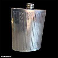 VINTAGE SHEFFIELD PEWTER HIP FLASK screw top, Made in England Monogrammed RLL