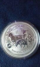 2015 1 oz Australia Perth Mint Lunar Year of the Goat (Lion Privy) Silver Coin