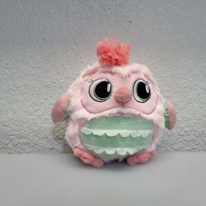 "Soft Pink Owl Plush Stuffed Animal Toy Pink Green Cuddle Snuggle Pillow 8"" Girl"