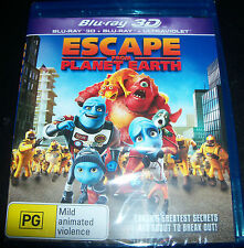 Escape From Planet Earth (Aust Region B) 3D Blu-Ray + Bluray - New