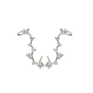 Sterling Silver Polaris Big Dipper Star Cuff Climber Crawler Wrap Earrings