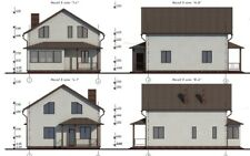 House plan, gable roof, PDF, Area: 152.56m. From the gas block.