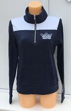 VICTORIA'S SECRET VS Pink Collegiate Oxford Uni Bling 1/4 zip Pull Taille XS
