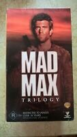 MAD MAX  TRILOGY VHS SET MEL GIBSON MAD MAX, ROAD WARR. BEY THUNDER  VGC