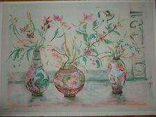 Edna Hibel - Chinese Vases - RARE LTD Edition - MINT Condition