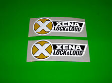 XENA LOCK & LOUD LOCKS MOTORCYCLE ATV QUAD SCOOTER METRIC BIKE DECALS STICKERS