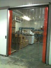 Vinyl Strip Door Curtain 72 in. X96 in. Cooler/Freezer Hardware Included