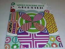 Adult Coloring Book Geometric Designs Coloring Book  Printed on one side only