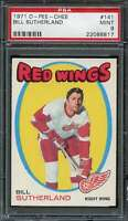 1971-72 O-PEE-CHEE #141 BILL SUTHERLAND PSA 9 RED WINGS  *DS7842