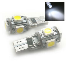 para VW 2x Xenón Blanco 5 SMD LED Luz Lateral W5W T10 501 sjsl1013w