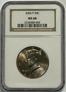 2006-P 50C Kennedy Half Dollar NGC MS 68