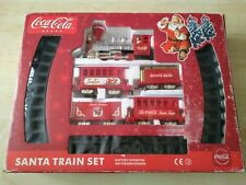 More details for christmas official coca-cola santa train set. battery operated. electronic sound