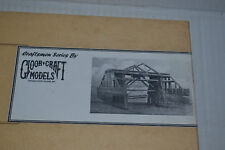Gloor 6020 56' Wood Truss Bridge Craftsman Style Kit O scale
