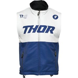 Thor MX Warmup Vest (Navy Blue / White) S