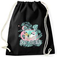 Turnbeutel Flamingo Einhorn best Friends Cocktail Party Moonworks®
