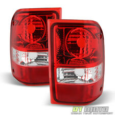 2001-2011 Ford Ranger Red Clear Tail Lights Replacement Lamps 01-11 Left+Right
