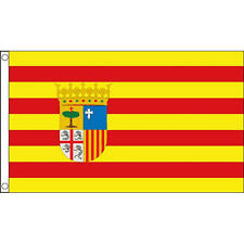 Aragon Flag 5Ft X 3Ft Spanish Region Spain Banner With 2 Metal Eyelets New