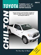 Chilton 68610 Repair Manual Toyota 07-12 Tundra, 08-10 Sequoia