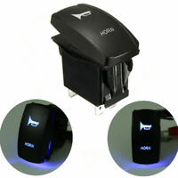 12V/24V Momentary Car Boat Marine LED Light Horn Laser Etch Rocker Switch On/Off