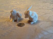 Enesco White Porcelain Bunny Rabbits, Set Of 2, A Pair for Easter!