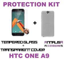 CUSTODIA COVER + PELLICOLA VETRO TEMPERATO PER HTC ONE A9 CASE + TEMPERED GLASS