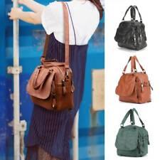Women Leather Backpack Ladies Cross Body Rucksack School Shoulder Bags Handbag