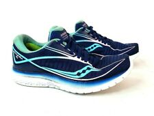 Saucony Kinvara 10 Womens Athletic Running Shoes Size 7.5 Blue Pink Teal