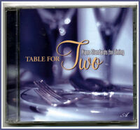 TABLE FOR TWO Music CD, Piano Standards for Dinning, Instrumental, New & Sealed