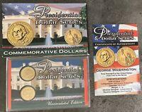 USA 2007 Presidential Dollar George Washington $1 Philadelphia + Denver Display