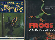 FROGS: a Chorus of Colors PLUS Keeping & Breeding Amphibians - lot of two books